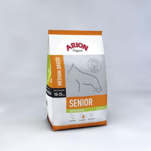 Arion ADULT MEDIUM SENIOR Chicken & Rice 12 kg