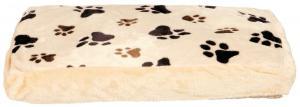 *Pude, Janos, firkant, 80 × 55 cm, beige/lysebrun