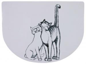 Dækkeserviet kat, 40 × 30 cm, hvid