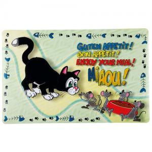 *Dækkeserviet kat, 44 × 28 cm
