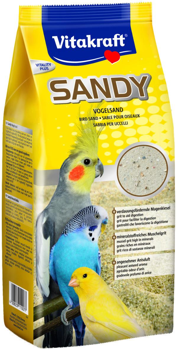 Sandy 3-plus Fågelsand 2,5kg