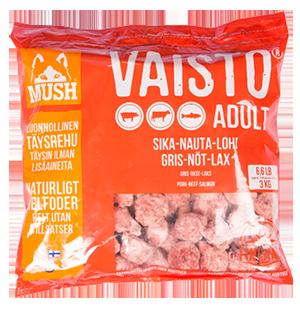 FRYST Mush Vaisto RÖD Gris/Lax/Nöt 3kg