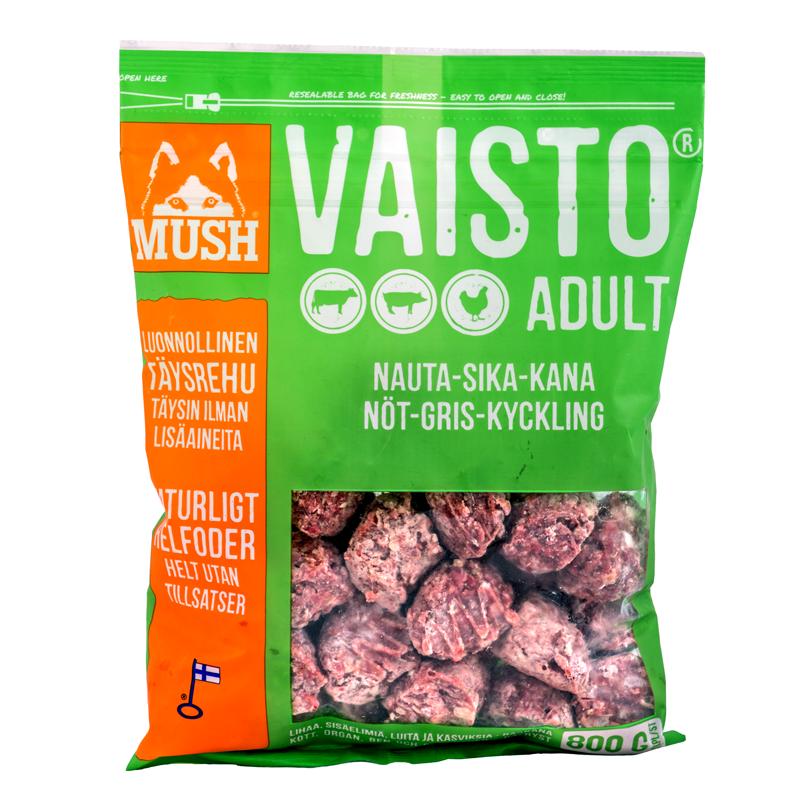 FRYST Mush Vaisto GRÖN Gris/Kyckling/Nöt 800g