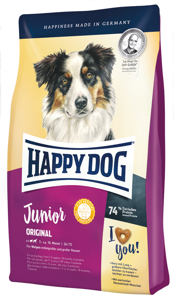 HappyDog Junior Original  4 kg