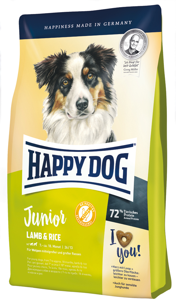 HappyDog Junior Lamb & Rice 4 kg