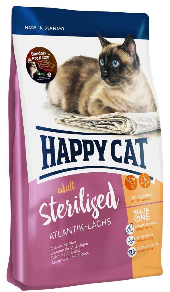 HappyCat Adult sterilised, lax, 300 g