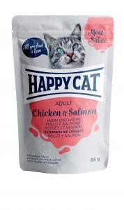 HappyCat våt/sås, Adult, kyckling & lax 85g