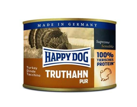 HappyDog konserv, 100% animalisk, kalkon 200 g