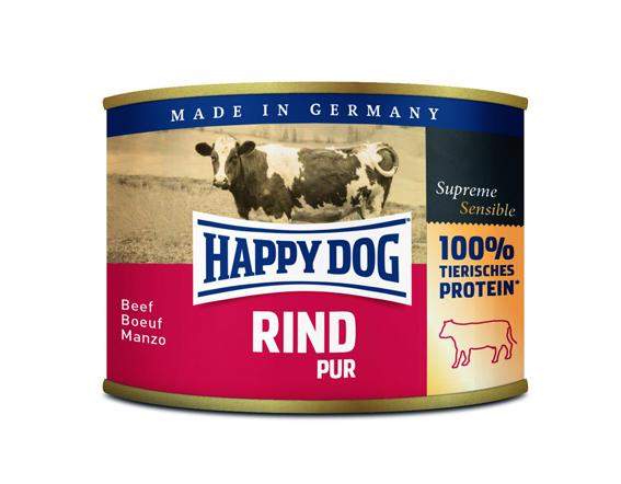 HappyDog konserv, 100% animalisk, oxkött 200 g