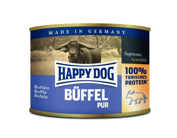 HappyDog konserv, 100% animalisk, buffel 200 g