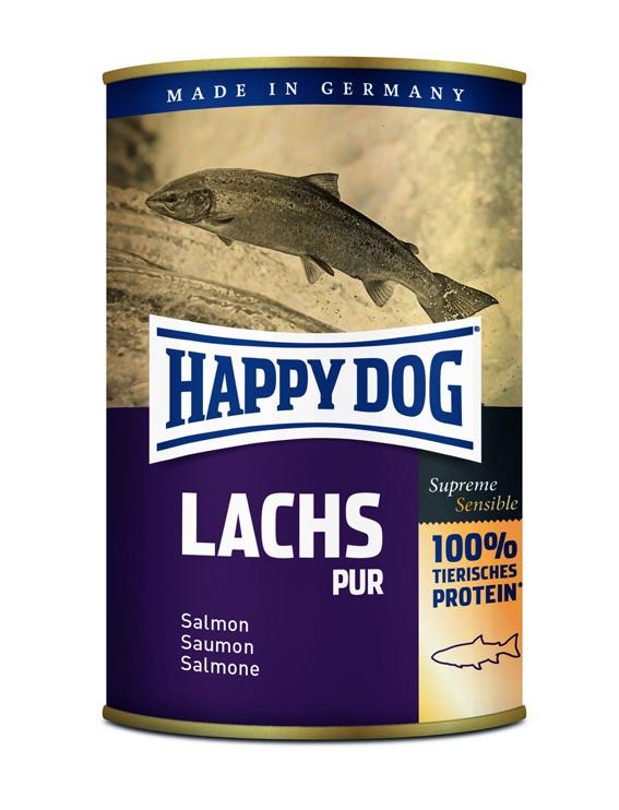 HappyDog konserv, GrainFree, 100% lax, 375g