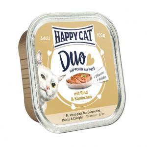 HappyCat Duo meny Paté oxkött & kanin, 100 g