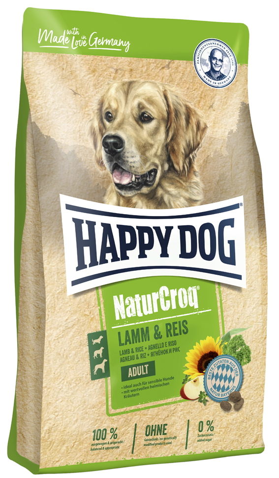 HappyDog NaturCroq lamm & ris, 15 kg
