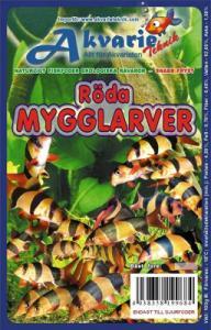 Frysta röda mygglarver blister 100gr