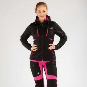 Arrak Akka Softchelljacket lady black/pink 46