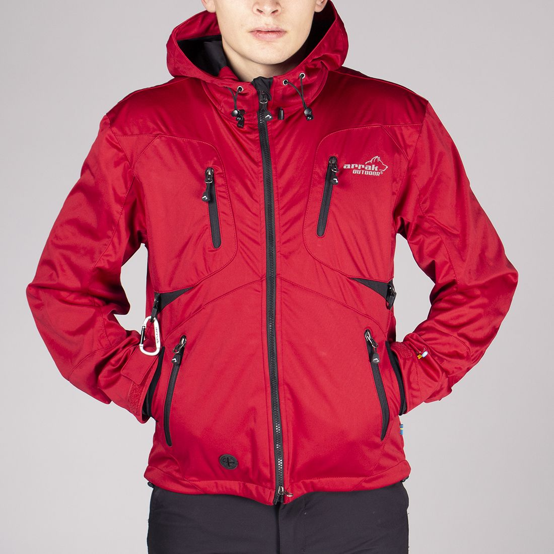 Arrak Akka Softshelljacket  UNISEX red XS