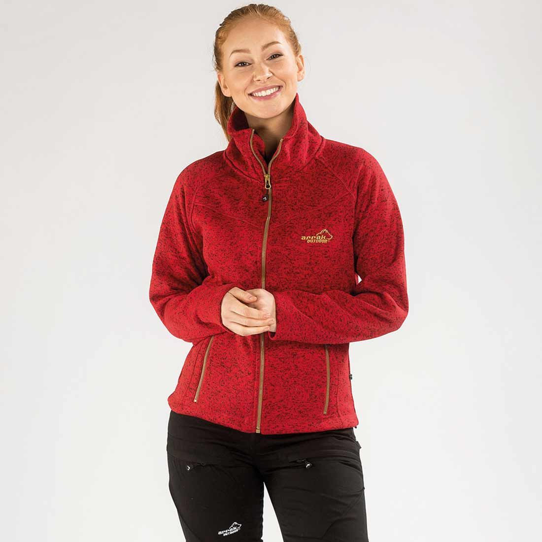 Arrak Lady Fleecejacket Redmelange XL