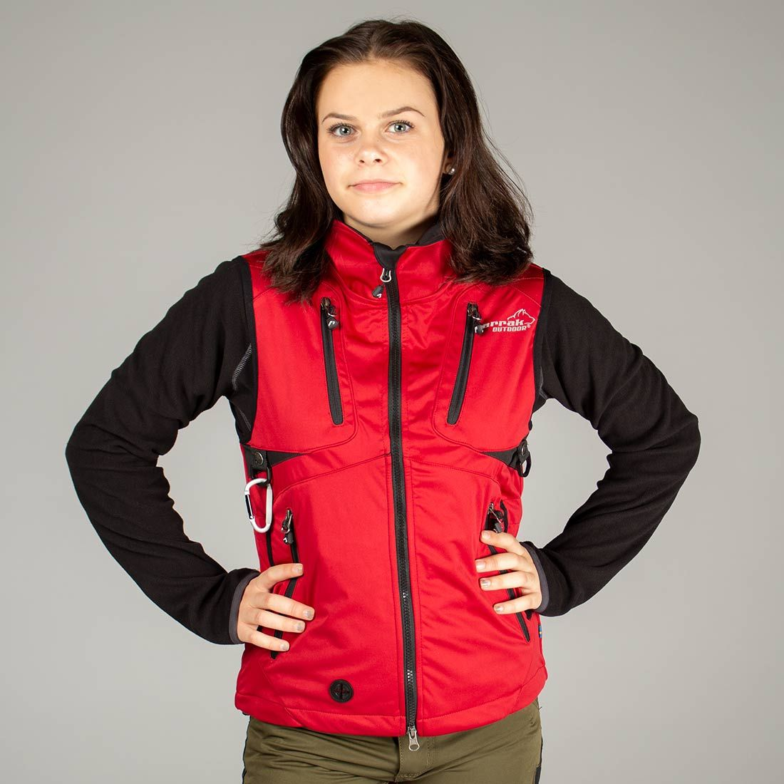 Arrak Acadia Softshell vest  LADY Red 40