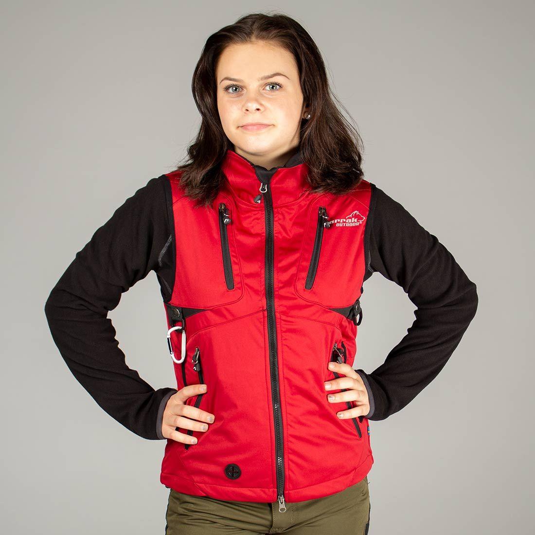 Arrak Acadia Softshell vest  LADY Red 48