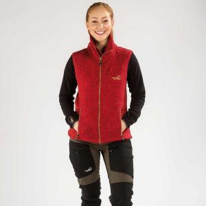 Arrak Lady Fleecevest Redmelange 40