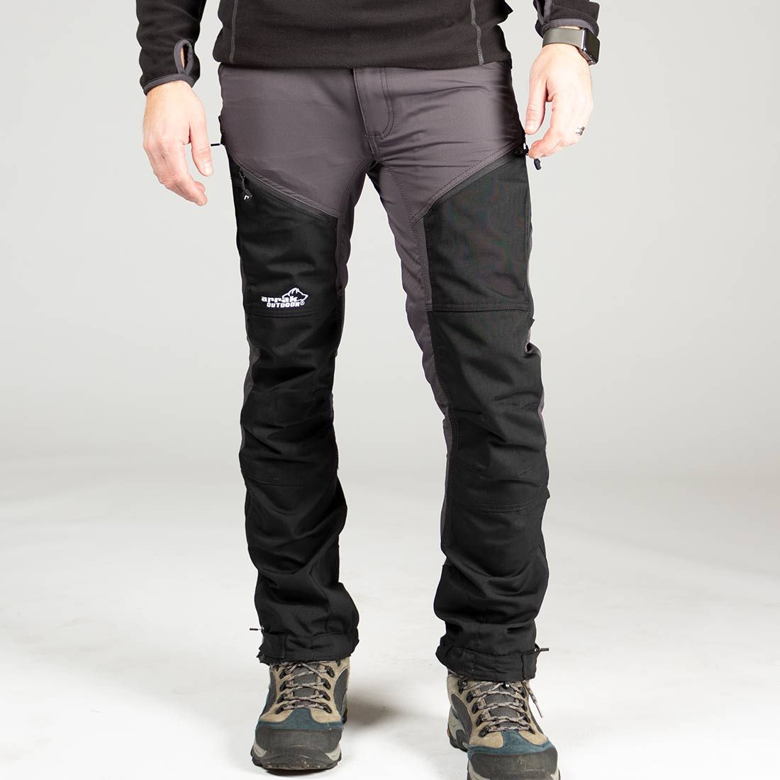 Arrak Rough Pant, Dark Grey 60