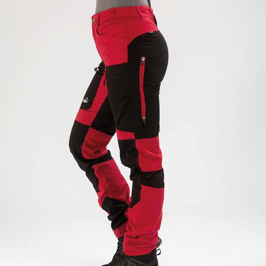 Arrak Active Stretch Pants LADY Short Red 48
