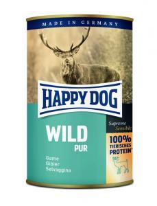 HappyDog konserv, 100% animalisk, vilt 400 g