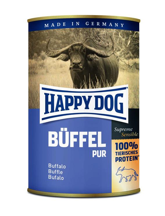 HappyDog konserv, 100% animalisk, buffel 400 g