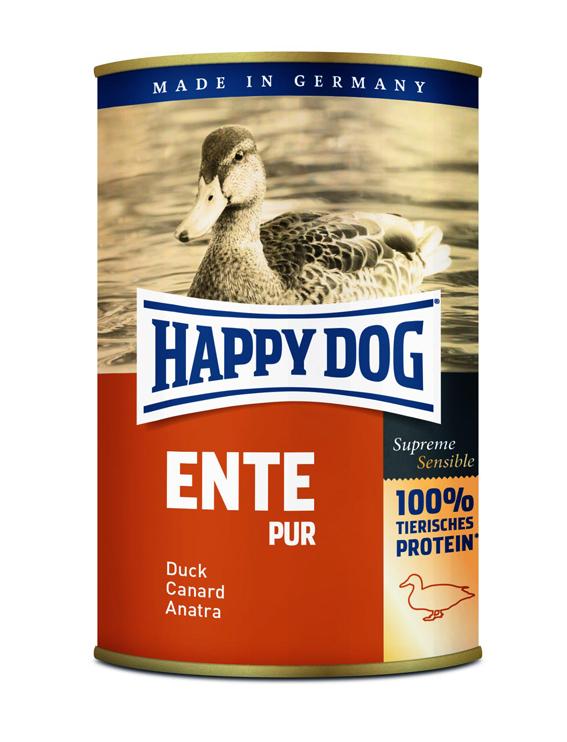 HappyDog konserv, 100% animalisk, anka 400 g