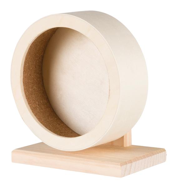 Hamsterhjul, trä ø 21 cm