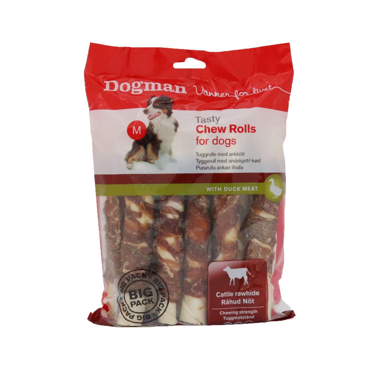 Chew Rolls 10-pack Med anka 600g, 17,5cm, M