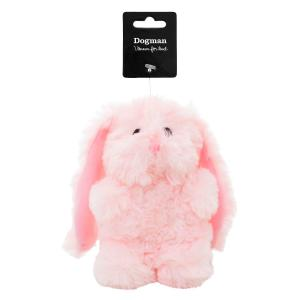 Hundlek Plysch Kanin 10x18cm Rosa