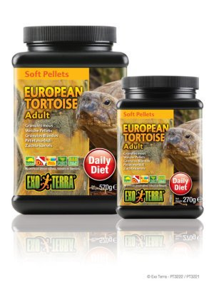 Landsköldpaddsfoder vuxna 270g soft pellets