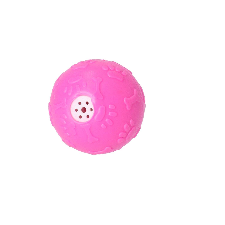 Hundlek Visselboll ø 7,5 cm Rosa