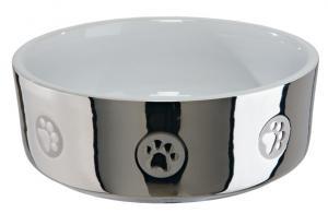 Keramikskål, 0,8L 15 cm, silver/vit