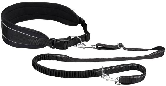 HandsFreebälte m expander 90-135/9 cm, koppel 120-150, svart