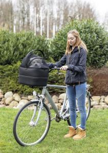 Cykelkorg front med nät 41 × h47 × 39 cm, svart