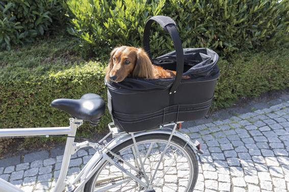 Cykelkorg för 118-160mm pakethållare, 29 × h49 × 60 cm, svart