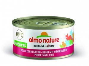 Almo Nature HFC Natural Kyckling och lever 70g - våtfoder för katt