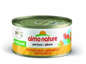 Almo Nature HFC Natural Kycklingfilé 70g - våtfoder för katt