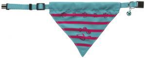 Katthalsband med scarf, polyester, mix färg