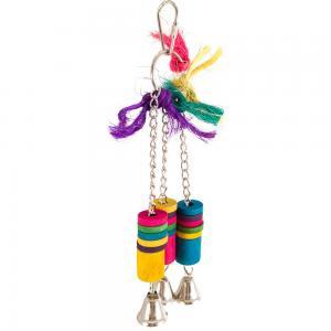 Leksak med rep, klossar och bjällror   8x19cm