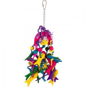 Färgglad hängande fågelleksak 10x30cm