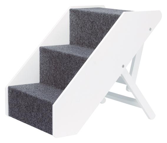 Trappa, justerbar höjd, 40 × 67 cm, vit