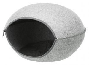 Luna igloo, filt,58 × 39 × 54 cm, lj.grå