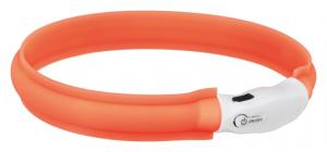 Flash light band USB, M-L: 50 cm/25 mm, orange