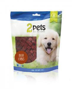 2pets Dogsnack Deer Cubes, 400 g