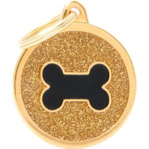 shine, cirkel stor med svart ben, guld
