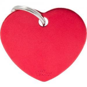 basic, hjärta stor, röd
