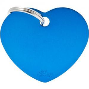 basic, hjärta stor, blå